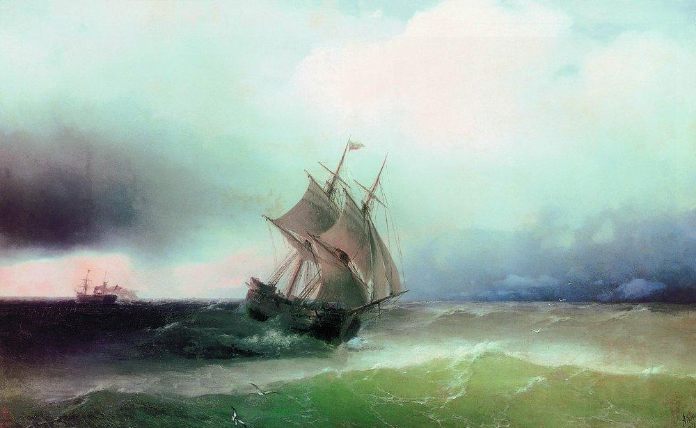 Approximation of the storm - Ivan Aivazovsky