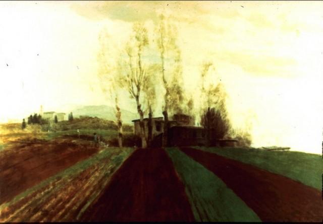 Arable land corridors in the early spring. - Arnold Bocklin