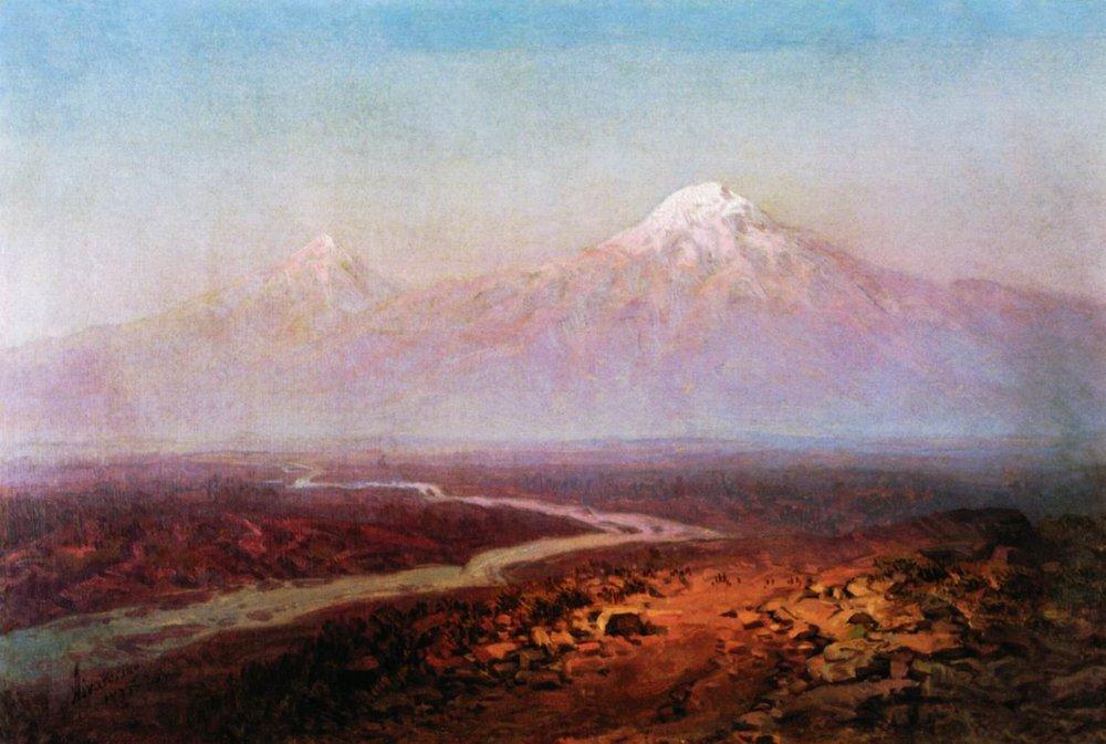 Araks River and Ararat - Ivan Aivazovsky