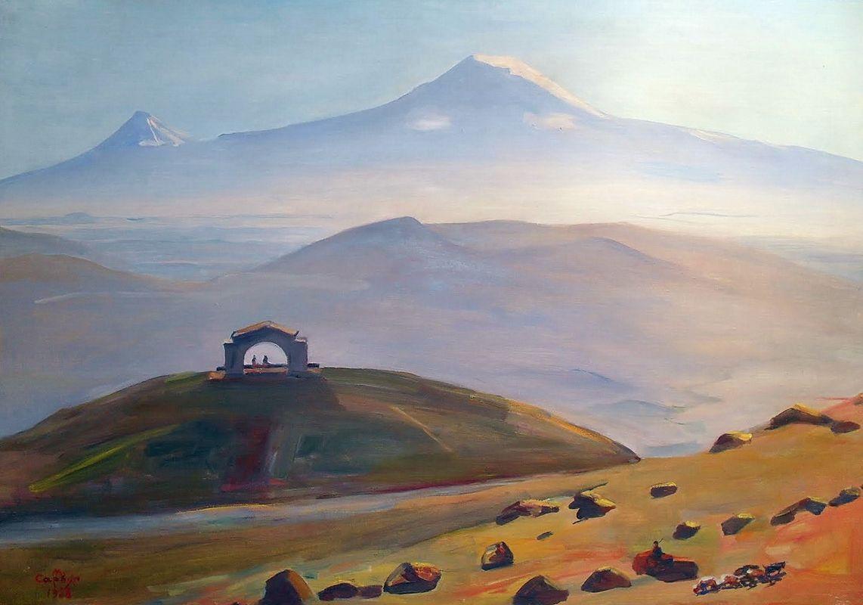 Ararat and arch Charents - Martiros Saryan