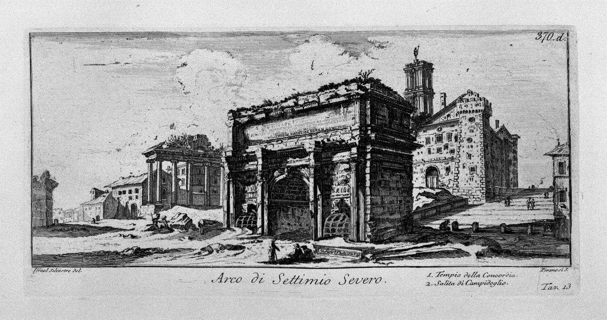 Arch of Constantine in Rome - Giovanni Battista Piranesi