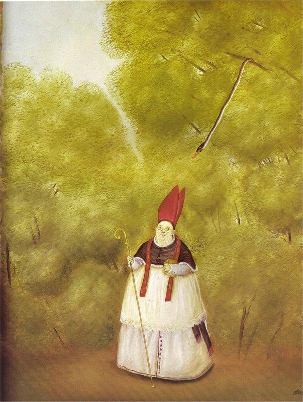 Archbishop Lost in the Woods - Fernando Botero