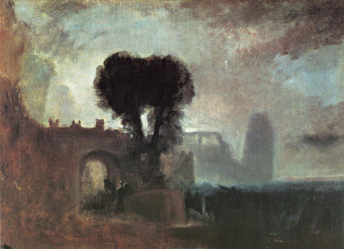 Archway with Trees by the Sea - William Turner