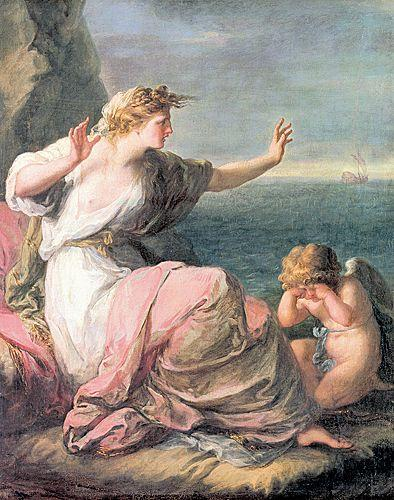 Ariadne left on the island of Naxos - Angelica Kauffman