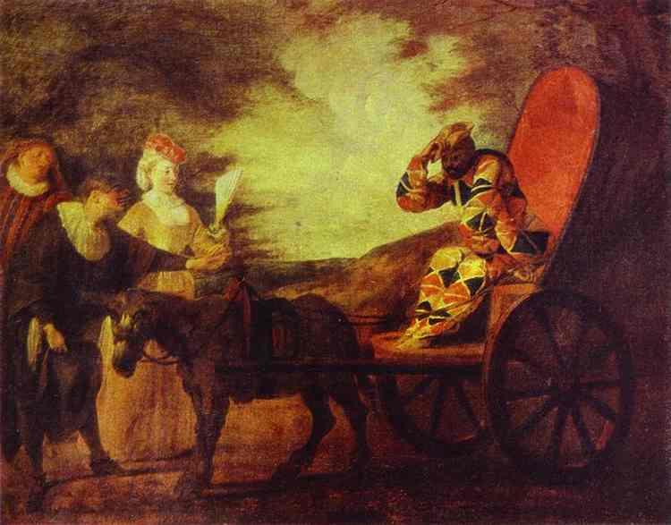 Arlecchino Emperor in the Moon - Antoine Watteau