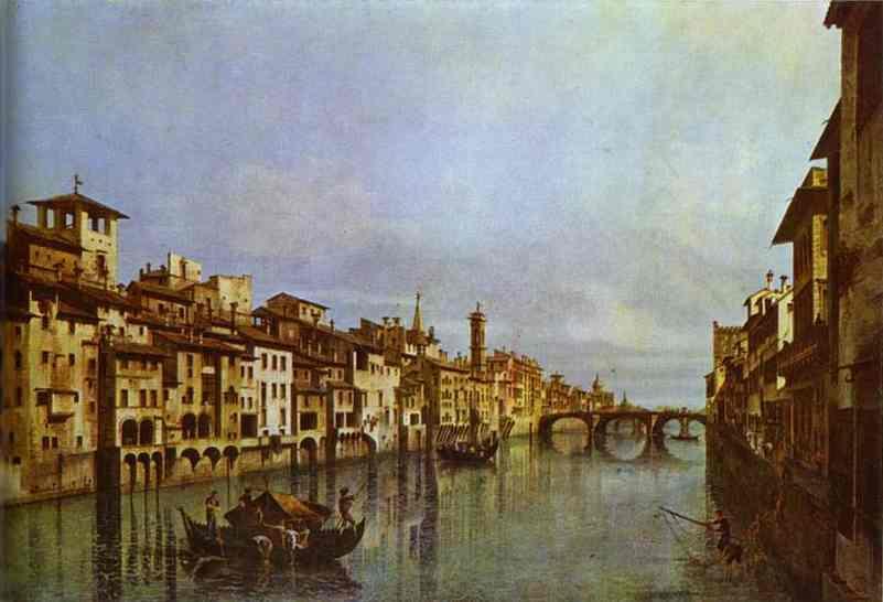 Arno in Florence - Bernardo Bellotto