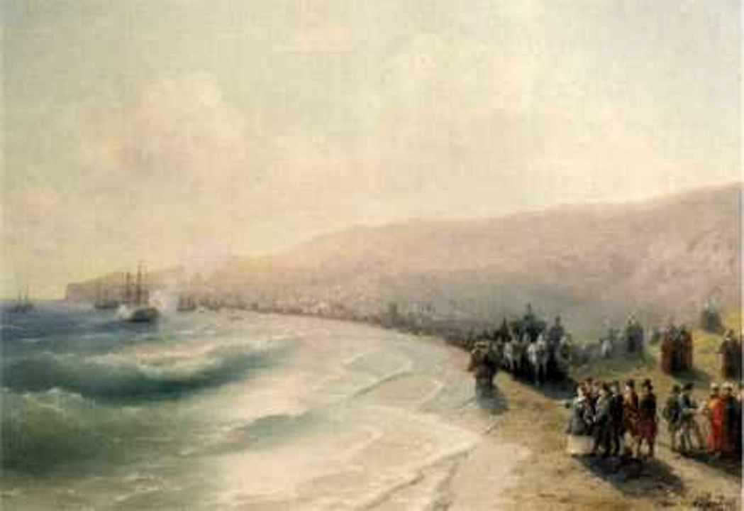 Arrival Catherine the Second to Pheodosiya - Ivan Aivazovsky
