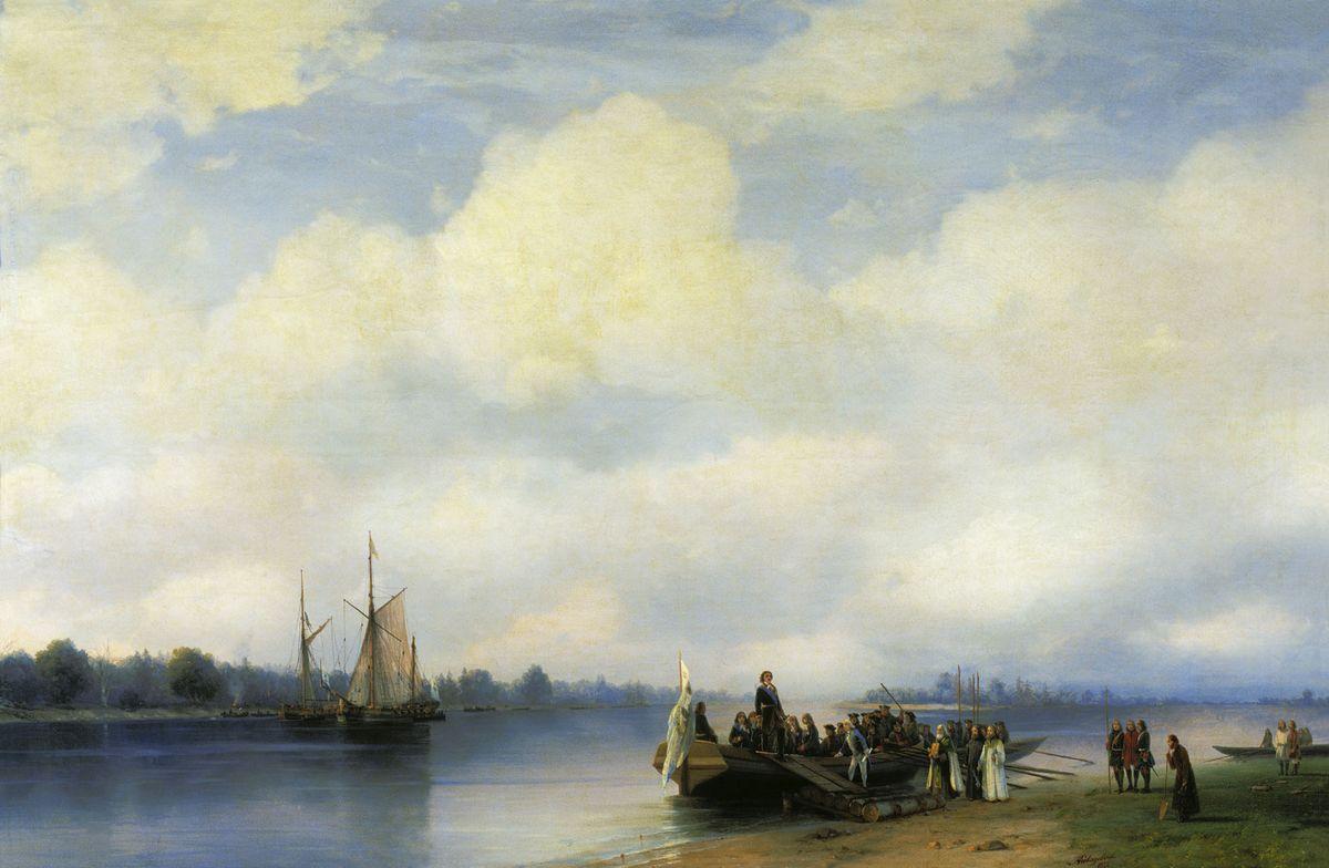 Arrival of Peter I on the Neva  - Ivan Aivazovsky