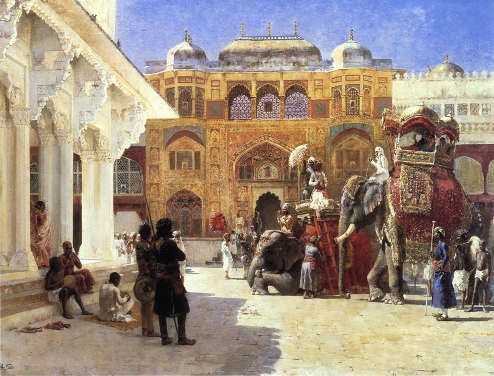 Arrival of Prince Humbert, the Rahaj, at the Palace of Amber - Edwin Lord Weeks