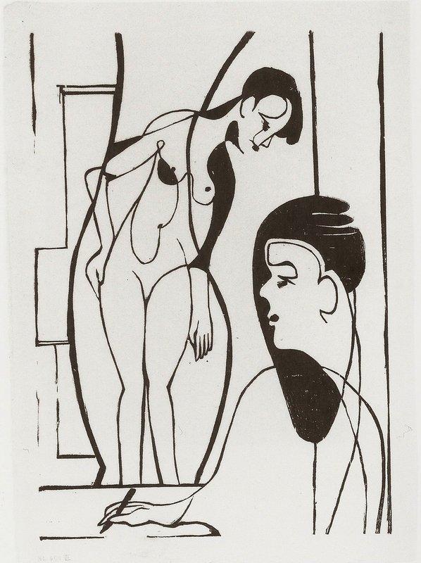 Artist and Female Modell - Ernst Ludwig Kirchner