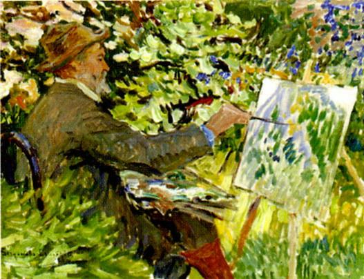 Artist at the Easel (Portrait of Konstantin Korovin) - Nikolay Bogdanov-Belsky