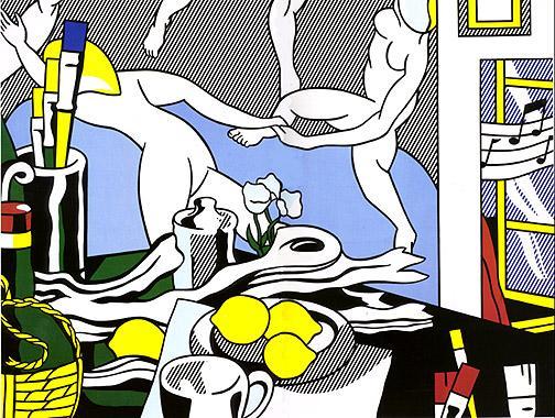 Artist's studio - The dance - Roy Lichtenstein
