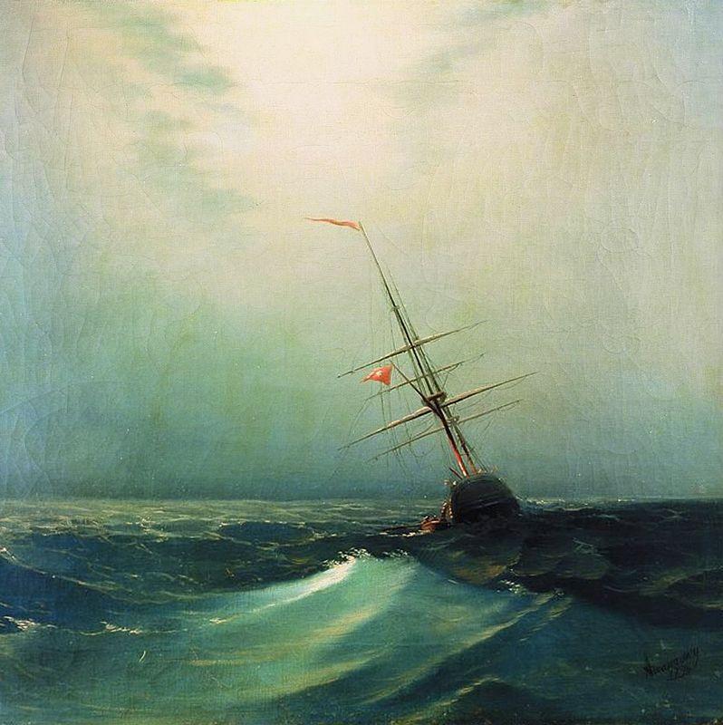 At night. Blue wave - Ivan Aivazovsky