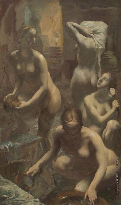 At the bath-house  - Alexandre Jacovleff