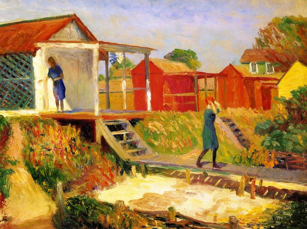 At the Beach - William James Glackens