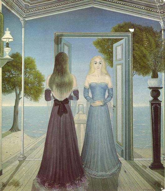 At the Door - Paul Delvaux