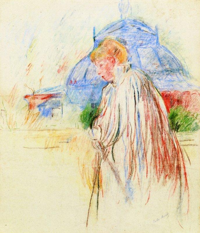 At the Exposition Palace - Berthe Morisot