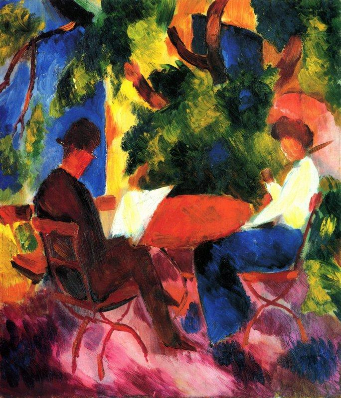 At the Garden Table - August Macke