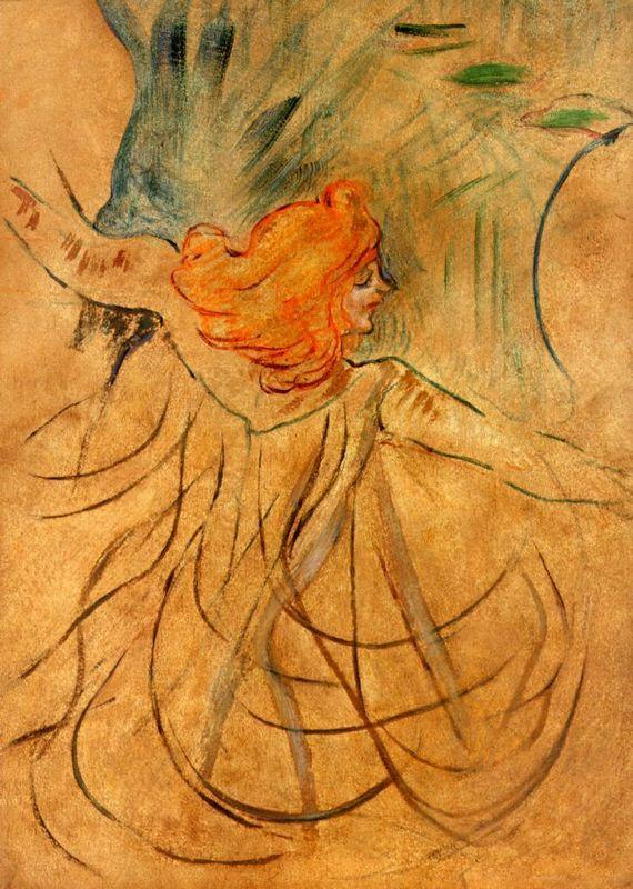 At the Music Hall Loie Fuller - Henri de Toulouse-Lautrec