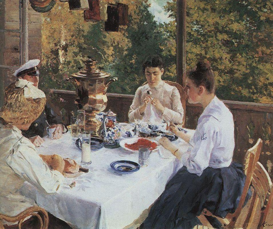 At the Tea-Table - Konstantin Korovin