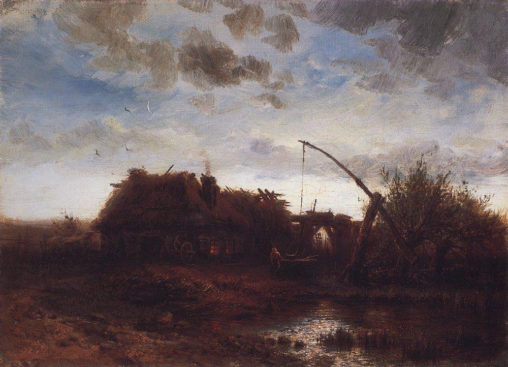 At the well - Aleksey Savrasov