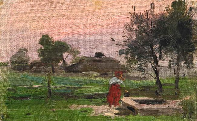 At The Well - Adolphe Joseph Thomas Monticelli