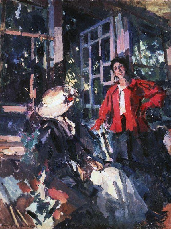 At the Window - Konstantin Korovin