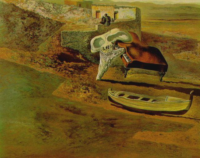 Atmospheric Skull Sodomizing a Grand Piano - Salvador Dali