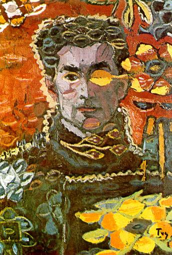 Self-Portrait on an Autumn Leave - Ion Tuculescu
