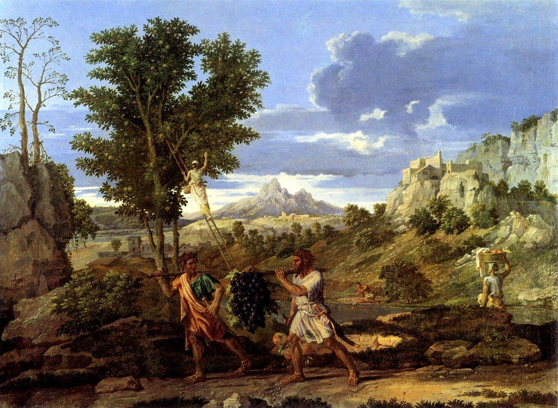Autumn (The Spies with the Grapes of the Promised Land)   - Nicolas Poussin