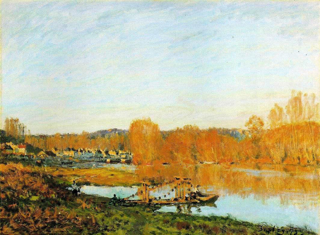 Autumn Banks of the Seine near Bougival - Alfred Sisley