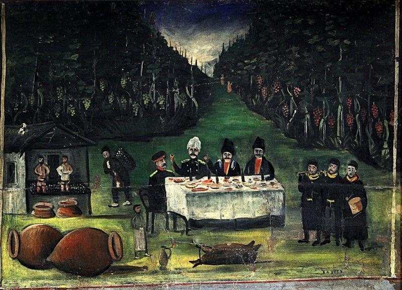 Road of Kakheti (part of Tapestry in six paintings) - Niko Pirosmani