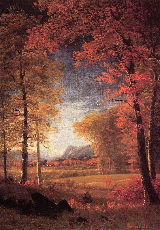 Autumn in America, Oneida County, New York - Albert Bierstadt