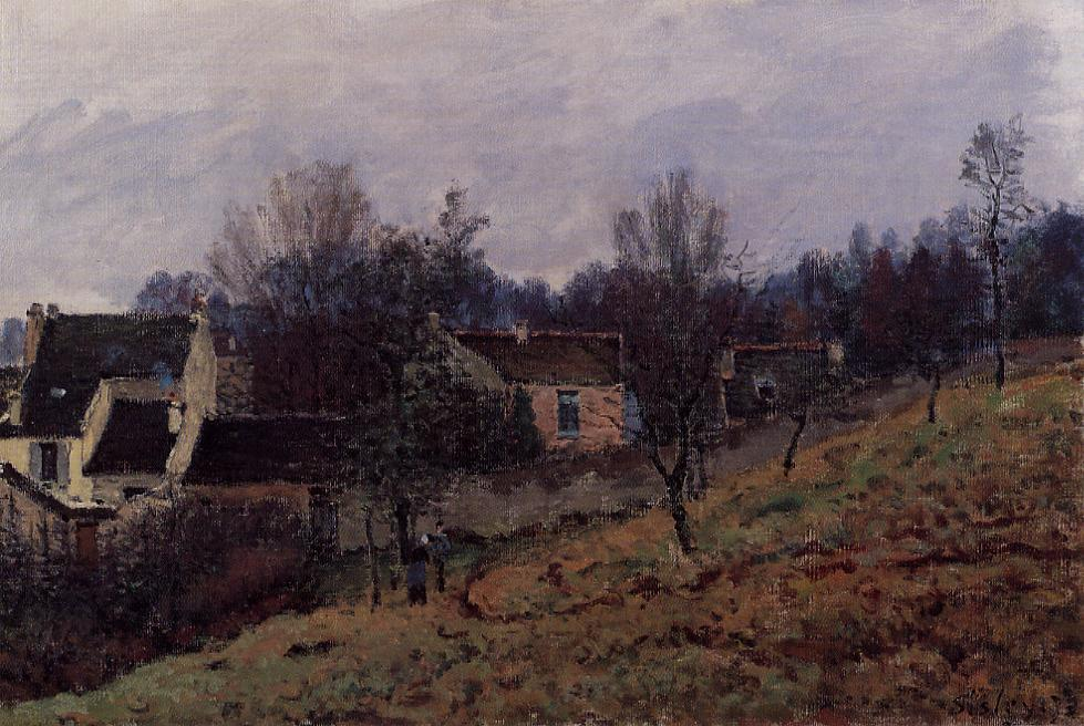 Autumn in Louveciennes - Alfred Sisley
