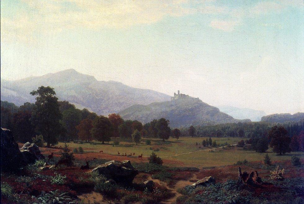 Autumn in the Conway Meadows Looking towards Mount Washington, New Hampshire - Albert Bierstadt