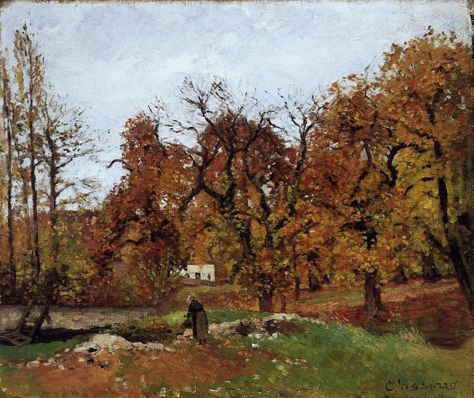 Autumn Landscape, near Pontoise - Camille Pissarro