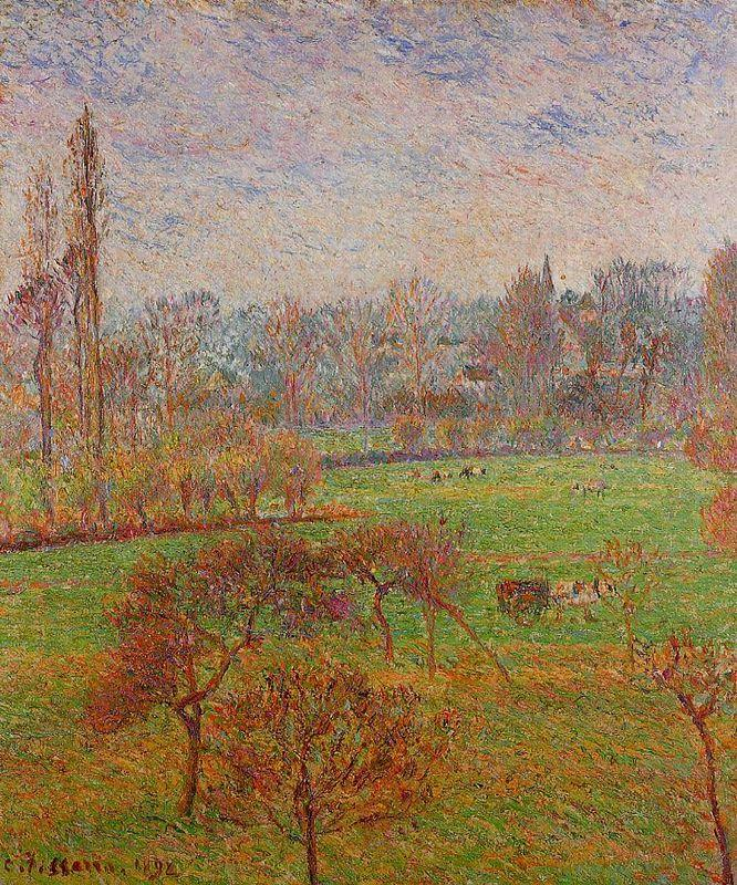 Autumn Morning - Camille Pissarro