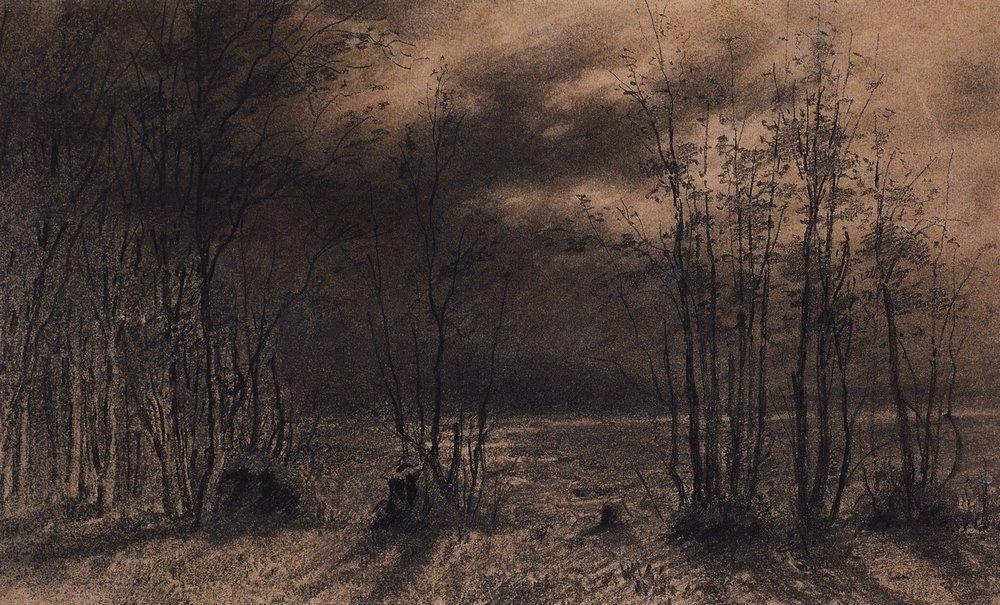 Autumn night - Aleksey Savrasov