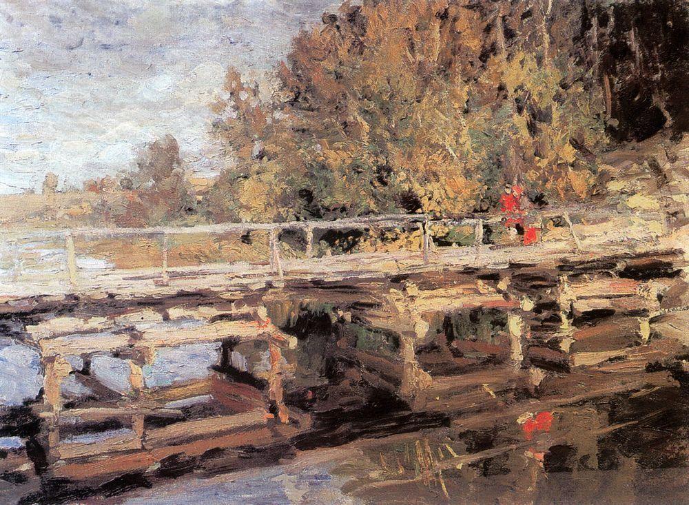 Autumn.On Bridge - Konstantin Korovin