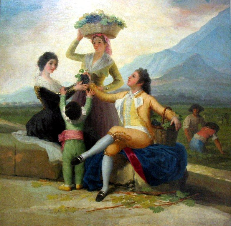 Autumn, or The Grape Harvest - Francisco Goya