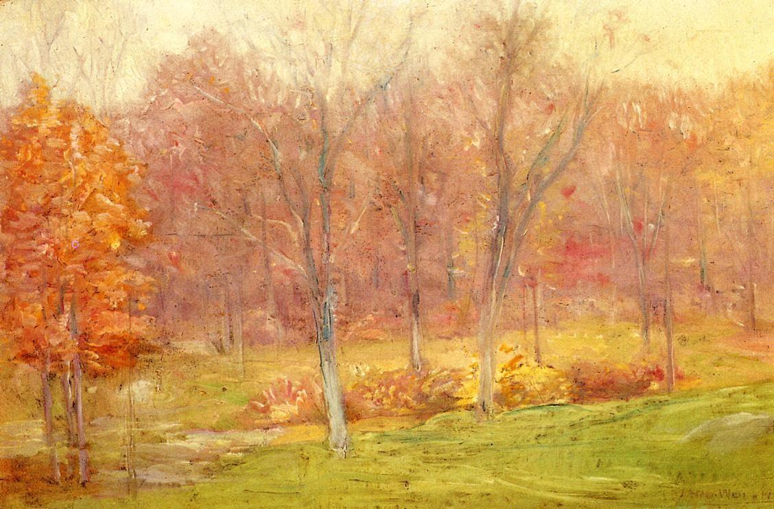 Autumn Rain - Julian Alden Weir