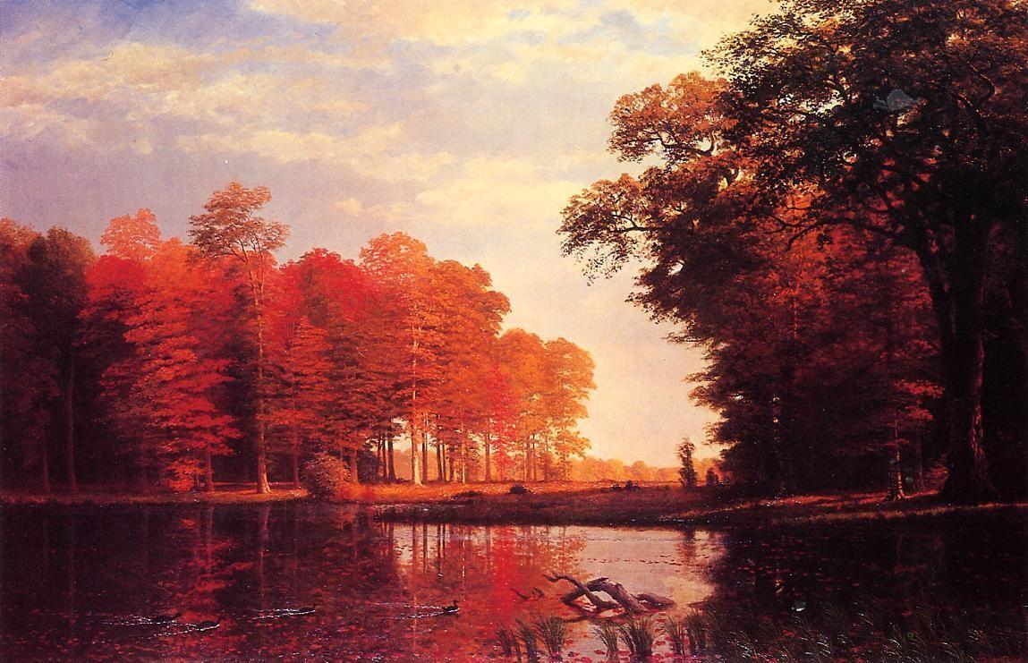 Autumn Woods - Albert Bierstadt
