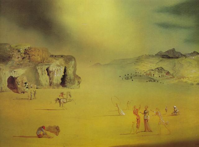 Average Pagan Landscape - Salvador Dali
