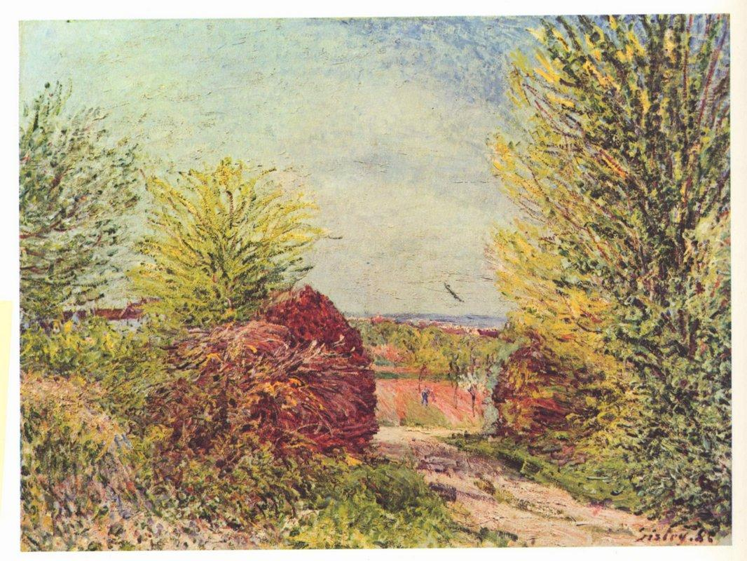 Away in the spring Veneux Nadon - Alfred Sisley