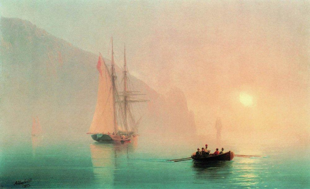 Ayu-Dag on a foggy day - Ivan Aivazovsky