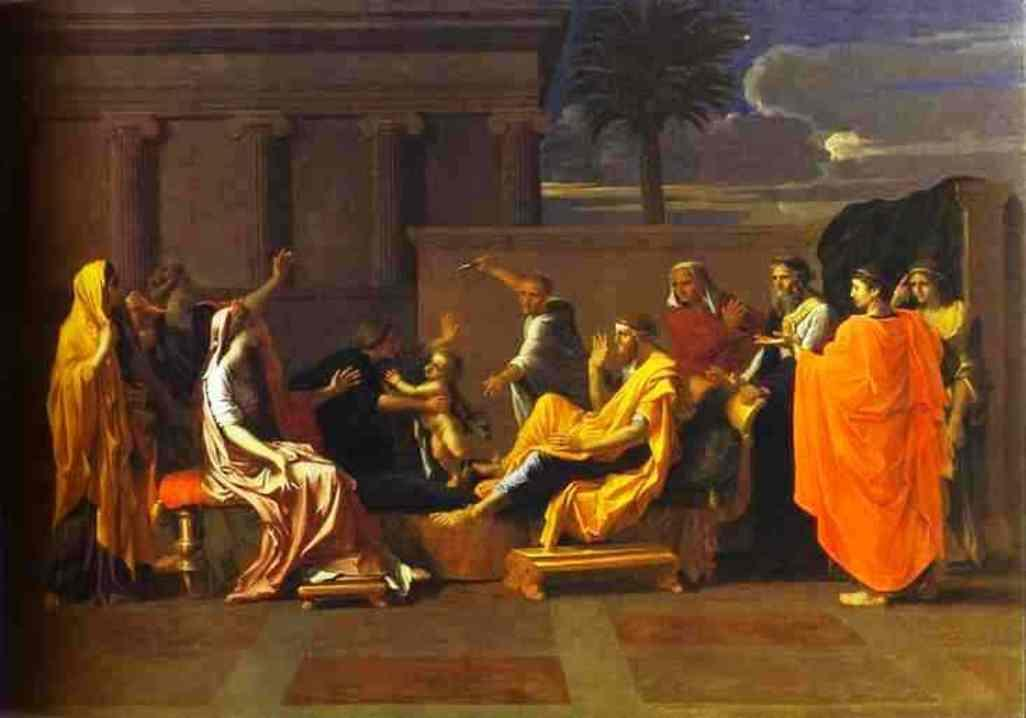Baby Moses Trampling on the Pharaoh's Crown - Nicolas Poussin