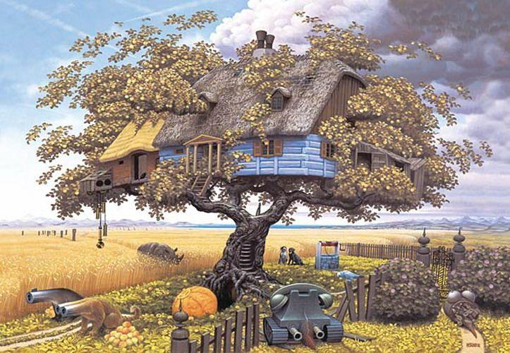 Back from Safari - Jacek Yerka