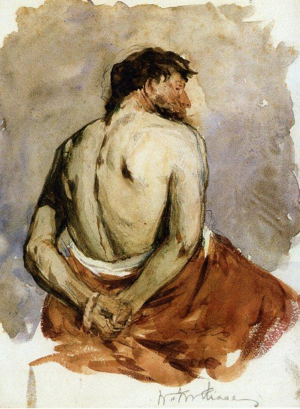 Back of a Male Figure - William Merritt Chase