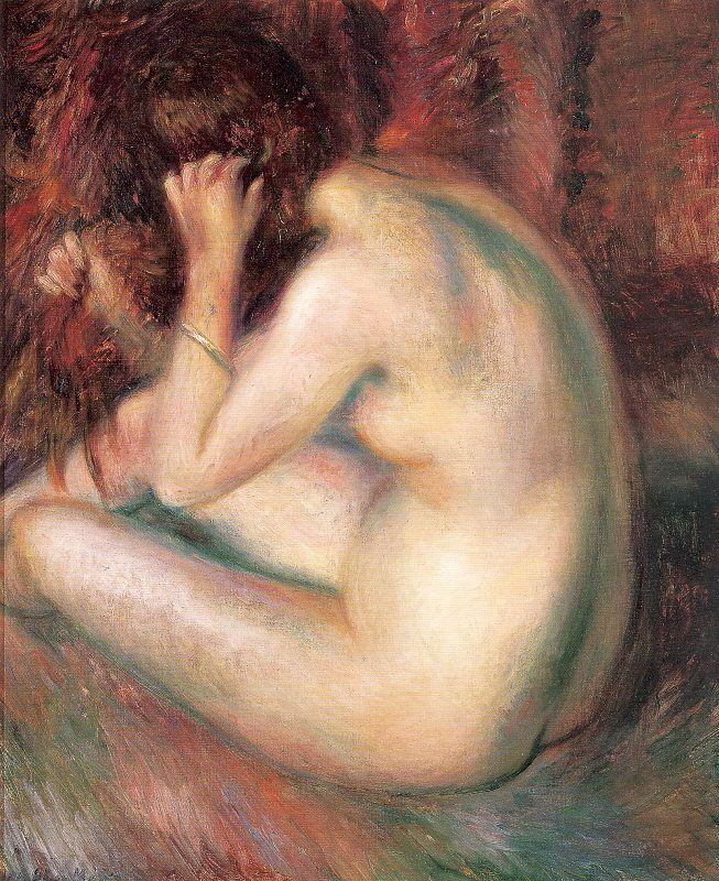 Back of nude - William James Glackens