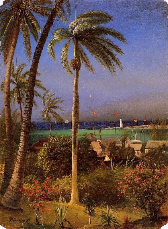 Bahamian View - Albert Bierstadt